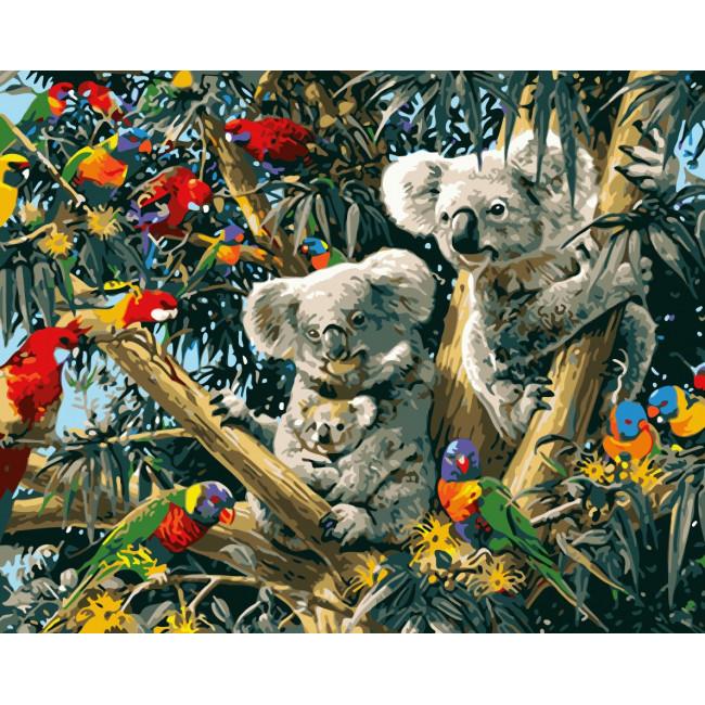Kit pictura pe numere cu animale, NDTP-107