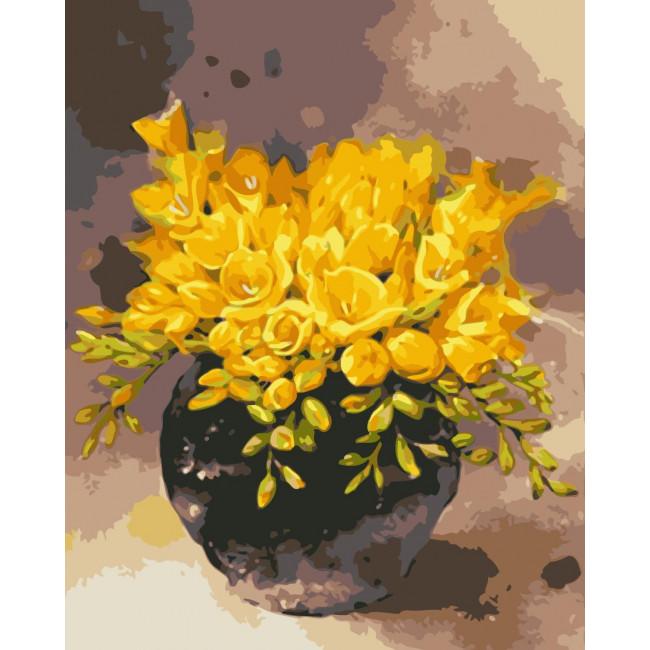 Kit pictura pe numere cu flori, NDTP-118