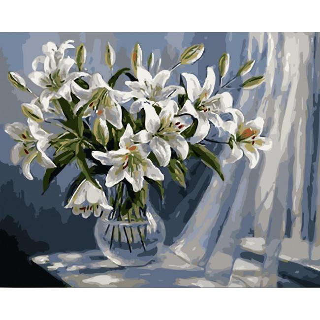 Kit pictura pe numere cu flori, NDTP-124R